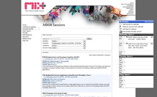 MIX08sessions